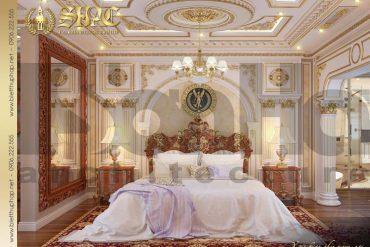 6 Mẫu nội thất phòng ngủ giám đốc biệt thự tân cổ điển đẹp tại sài gòn sh btcd 0048