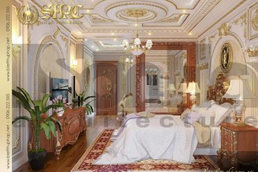 7 Thiết kế nội thất phòng ngủ giám đốc biệt thự tân cổ điển 3 tầng tại sài gòn sh btcd 0048