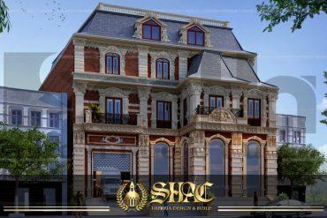 BÌA thiết kế biệt thự tân cổ điển 3 tầng mặt tiền 18,3m tại sài gòn sh btcd 0048