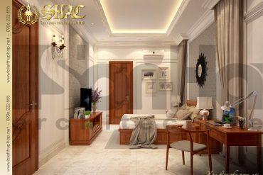 10 Mẫu nội thất phòng ngủ 1 biệt thự tân cổ điển mặt tiền 10m tại hà nội sh btcd 0049