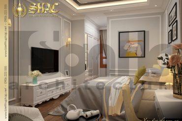14 Mẫu nội thất phòng ngủ 3 biệt thự tân cổ điển 3 tầng tại hà nội sh btcd 0049