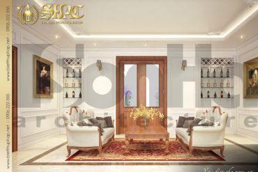 17 Thiết kế nội thất phòng sinh hoạt chung biệt thự tân cổ điển 3 tầng tại hà nội sh btcd 0049