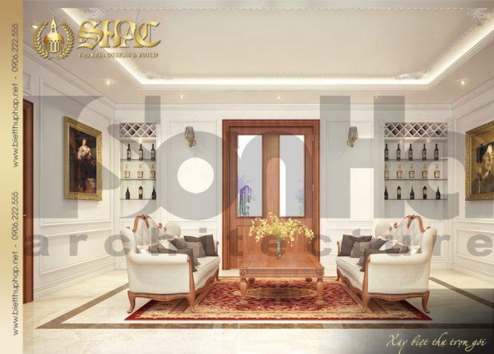 Thiết kế nội thất phòng sinh hoạt chung sang trọng, ấm cúng cho cả gia đình