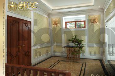 18 Mẫu nội thất sảnh thang biệt thự tân cổ điển mặt tiền 10m tại hà nội sh btcd 0049