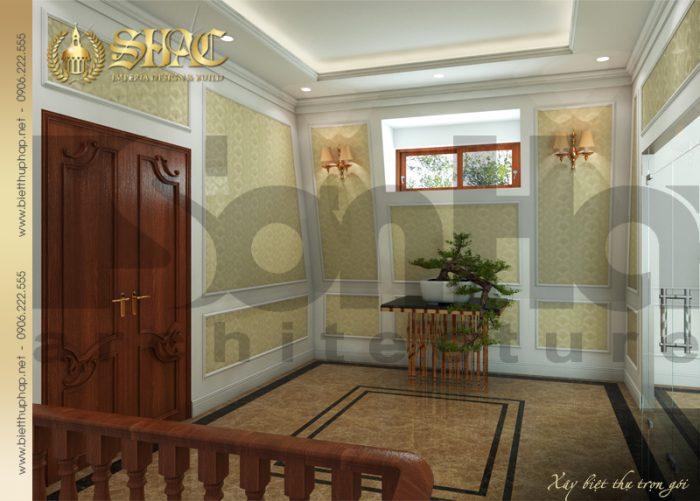 Thiết kế sảnh thang biệt thự đẹp được chủ đầu tư vô cùng yêu thích và đánh giá cao
