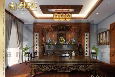 19 Thiết kế nội thất phòng thờ biệt thự tân cổ điển đẹp tại hà nội sh btcd 0049