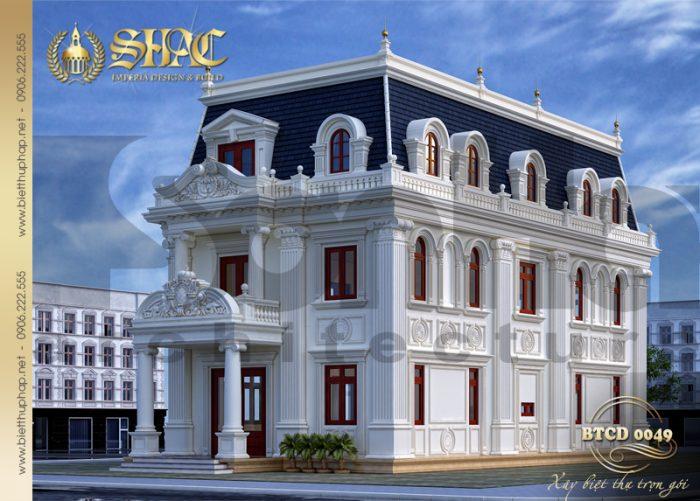 Ngôi biệt thự phong cách tân cổ điển sang trọng ưu điểm hai mặt tiền đẹp, nổi bật tại H. Ba Vì thu hút sự quan tâm của đông đảo người dân