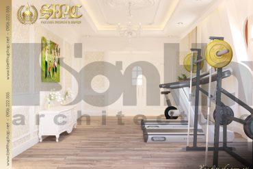 20 Mẫu nội thất phòng tập biệt thự tân cổ điển 3 tầng tại hà nội sh btcd 0049