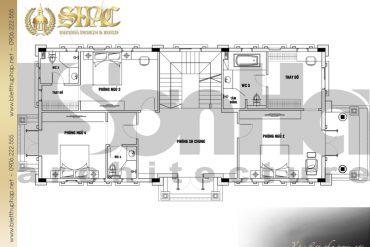22 Mặt bằng công năng tầng 2 biệt thự tân cổ điển đẹp tại hà nội sh btcd 0049