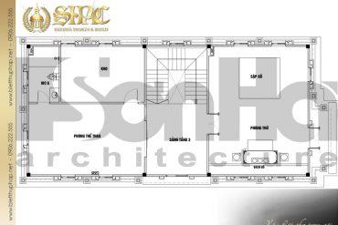 23 Mặt bằng công năng tầng 3 biệt thự tân cổ điển 3 tầng tại hà nội sh btcd 0049