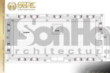 24 Mặt bằng công năng tầng mái biệt thự tân cổ điển mặt tiền 10m tại hà nội sh btcd 0049