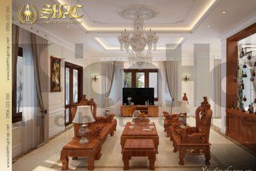 5 Thiết kế nội thất phòng khách biệt thự tân cổ điển đẹp tại hà nội sh btcd 0049