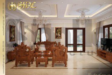 6 Mẫu nội thất phòng khách biệt thự tân cổ điển 3 tầng tại hà nội sh btcd 0049