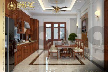 8 Mẫu nội thất phòng bếp ăn biệt thự tân cổ điển đẹp tại hà nội sh btcd 0049