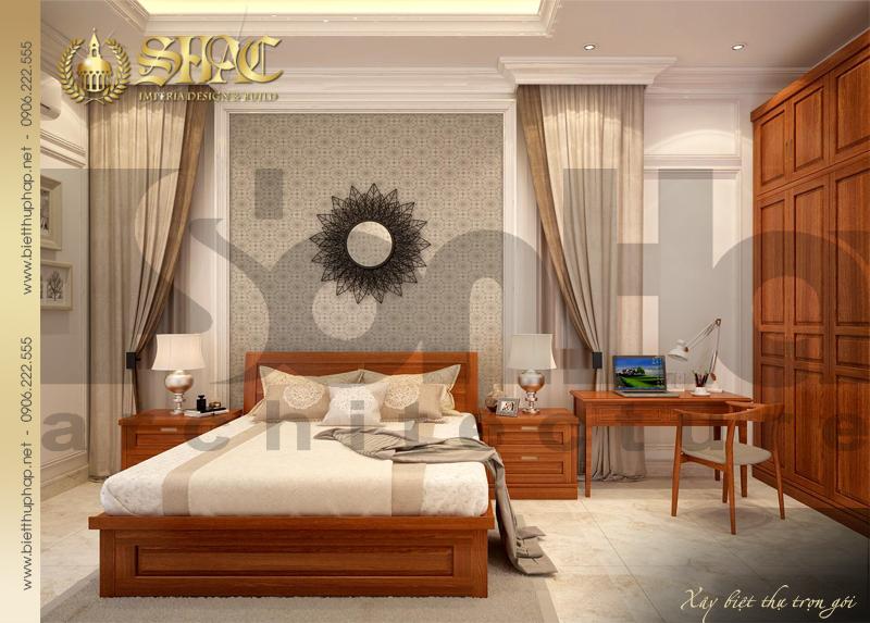 9 Thiết kế nội thất phòng ngủ 1 biệt thự tân cổ điển 3 tầng tại hà nội sh btcd 0049