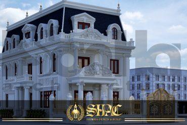 BÌA Thiết kế biệt thự tân cổ điển 3 tầng mặt tiền 10m tại hà nội sh btcd 0049