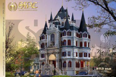 1 Thiết kế biệt thự lâu đài kiểu cổ điển đẹp tại hà nội sh btld 0040
