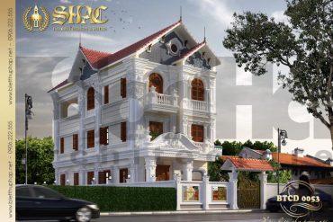1 Thiết kế biệt thự tân cổ điển đẹp tại hải phòng sh btcd 0053