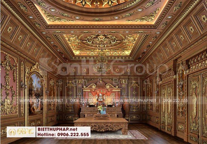 Thiết kế nội thất phòng thờ đẳng cấp nhất đem đến nơi thờ cúng trang nghiêm, chuẩn phong thủy cho gia chủ