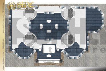 10 Mặt bằng công năng tầng mái biệt thự lâu đài cổ điển tại hà nội sh btld 0040