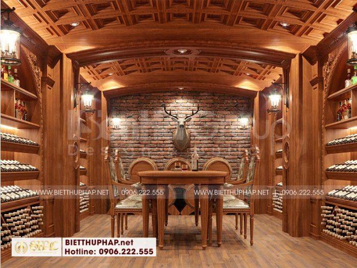 Thiết kế nội thất hầm rượu đẹp dành cho biệt thự lâu đài xa hoa tại Hà Nội