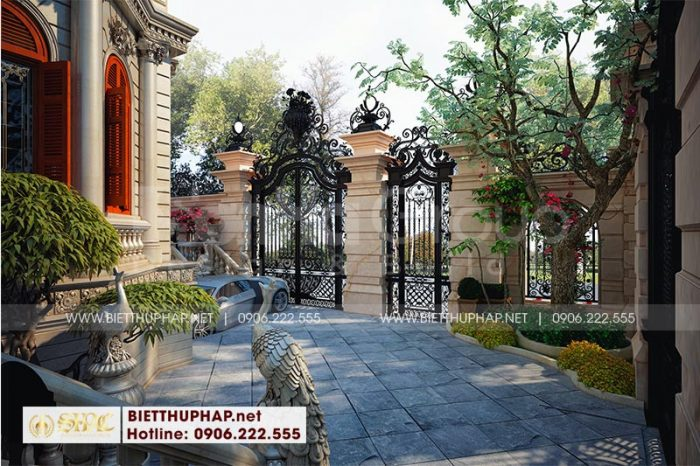 Mẫu thiết kế tiểu cảnh sân vườn đẹp dành cho biệt thự lâu đài tại Hà Nội
