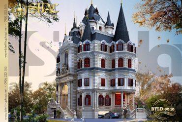 3 Thiết kế biệt thự lâu đài cổ điển 2 mặt tiền đẹp tại hà nội sh btld 0040