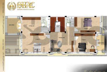 5 Bản vẽ tầng 2 biệt thự tân cổ điển đẹp tại hải phòng sh btcd 0053