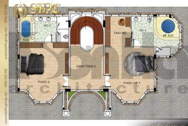 6 Mặt bằng công năng tầng 2 biệt thự lâu đài đẹp tại hà nội sh btld 0040