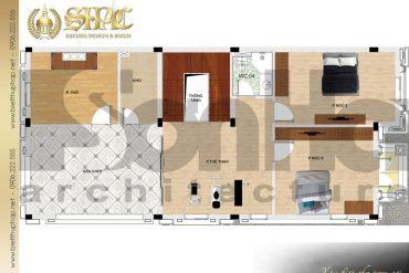 6 Mặt bằng tầng 3 biệt thự phong cách tân cổ điển tại hải phòng sh btcd 0053