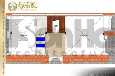 7 Bản vẽ tầng áp mái biệt thự tân cổ điển sân vườn tại hải phòng sh btcd 0053