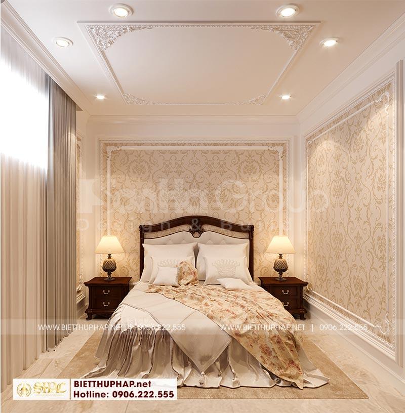 Căn phòng ngủ dành cho người giúp việc của gia chủ cũng tiện nghi không kém