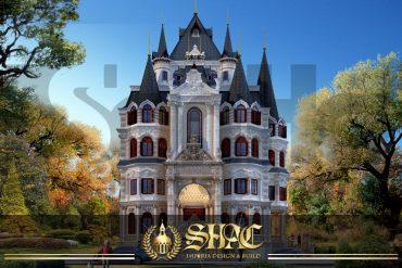 BÌA mẫu biệt thự lâu đài cổ điển 4 tầng 1 tum đẹp tại hà nội sh btld 0040