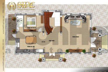 4 Mặt bằng tầng 1 biệt thự tân cổ điển 2 mặt tiền tại hải phòng sh btcd 0054