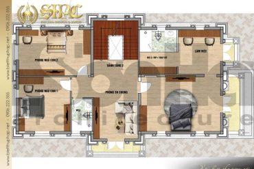5 Bản vẽ tầng 2 biệt thự sang trọng phong cách tân cổ điển tại hải phòng sh btcd 0054
