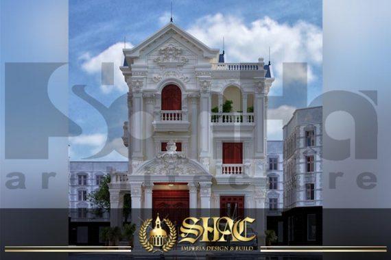 BÌA thiết kế biệt thự tân cổ điển 3 tầng 2 mặt tiền đẹp tại hải phòng sh btcd 0054