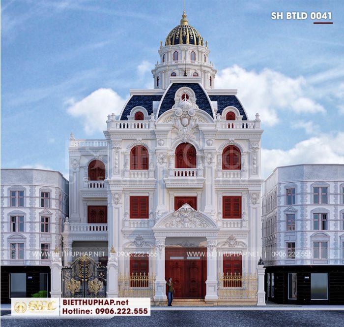 Thiết kế kiến trúc biệt thự lâu đài phong cách Châu Âu sang trọng qua mọi góc nhìn tại Hà Nội