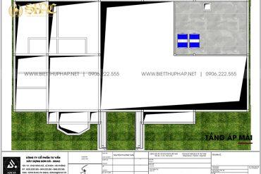 4 Bản vẽ tầng áp mái biệt thự sân vườn kiểu tân cổ điển tại vĩnh long sh btcd 0059