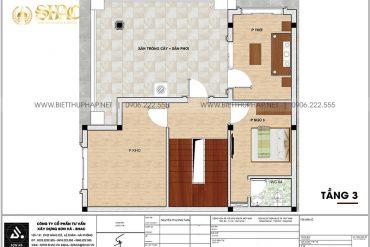 5 Mặt bằng tầng 3 biệt thự tân cổ điển 3 tầng tại hải phòng sh btcd 0058