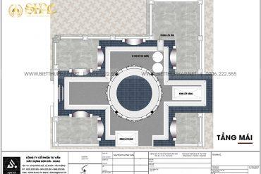 7 Mặt bằng tầng mái biệt thự lâu đài kiểu pháp tại hà nội sh btld 0041
