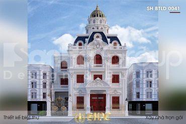 BÌA thiết kế biệt thự lâu đài pháp 3 tầng 1 tum tại hà nội sh btld 0041