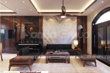 1 Thiết kế nội thất phòng khách biệt thự khu đô thị vinhome imperia hải phòng