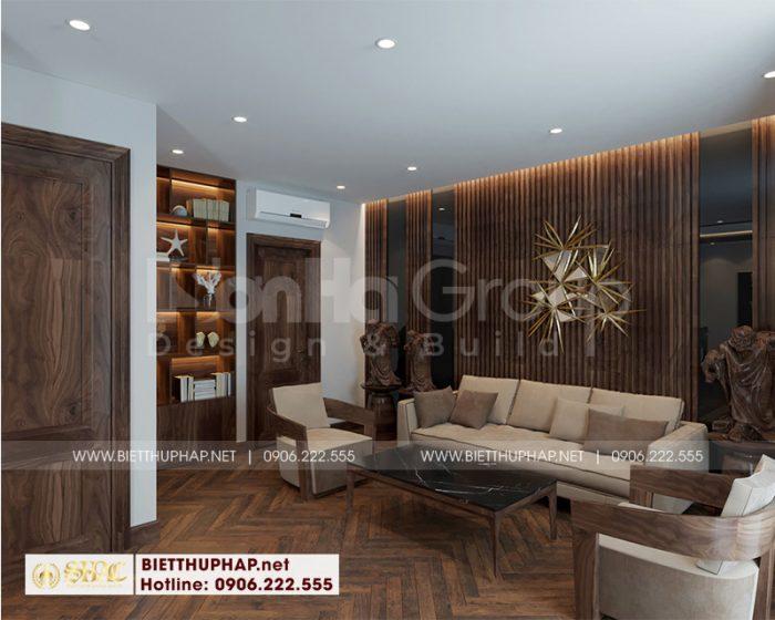 Cách trang trí nội thất phòng sinh hoạt chung biệt thự phong cách tân cổ điển tại Hải Phòng