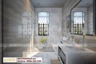 12 Mẫu nội thất phòng tắm wc biệt thự khu đô thị vinhome inperia hải phòng