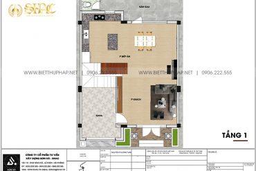 14 Mặt bằng tầng 1 biệt thự khu đô thị vinhome inperia hải phòng