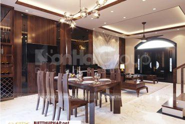 3 Không gian nội thất phòng bếp ăn biệt thự khu đô thị vinhome imperia hải phòng