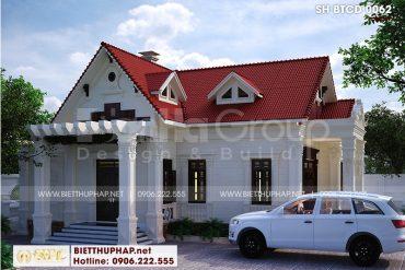 1 Thiết kế biệt thự kiểu tân cổ điển tại hải phòng sh btcd 0062