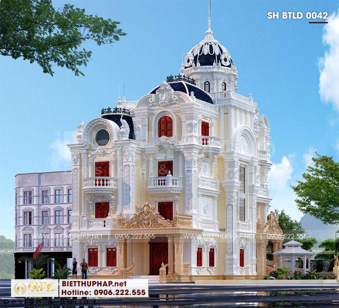 Ngôi biệt thự lâu đài sở hữu kiến trúc 2 mặt tiền ấn tượng hội tụ mọi nét đẹp tinh hoa của dòng kiến trúc cổ điển