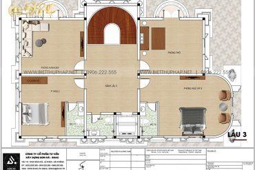 10 Bản vẽ lầu 3 biệt thự lâu đài mặt tiền 11,4m tại long an sh btld 0042