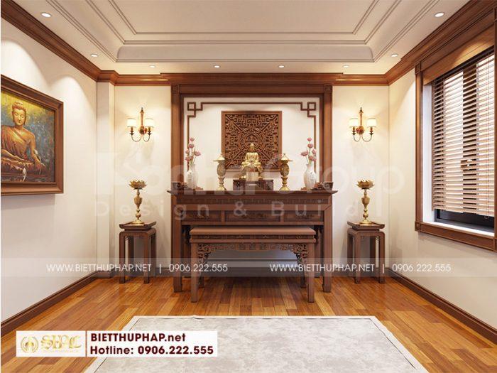 Thiết kế nội thất phòng thờ biệt thự trang nghiêm, hợp phong thủy cho biệt thự 3 tầng tại Vinhomes Imperia Hải Phòng